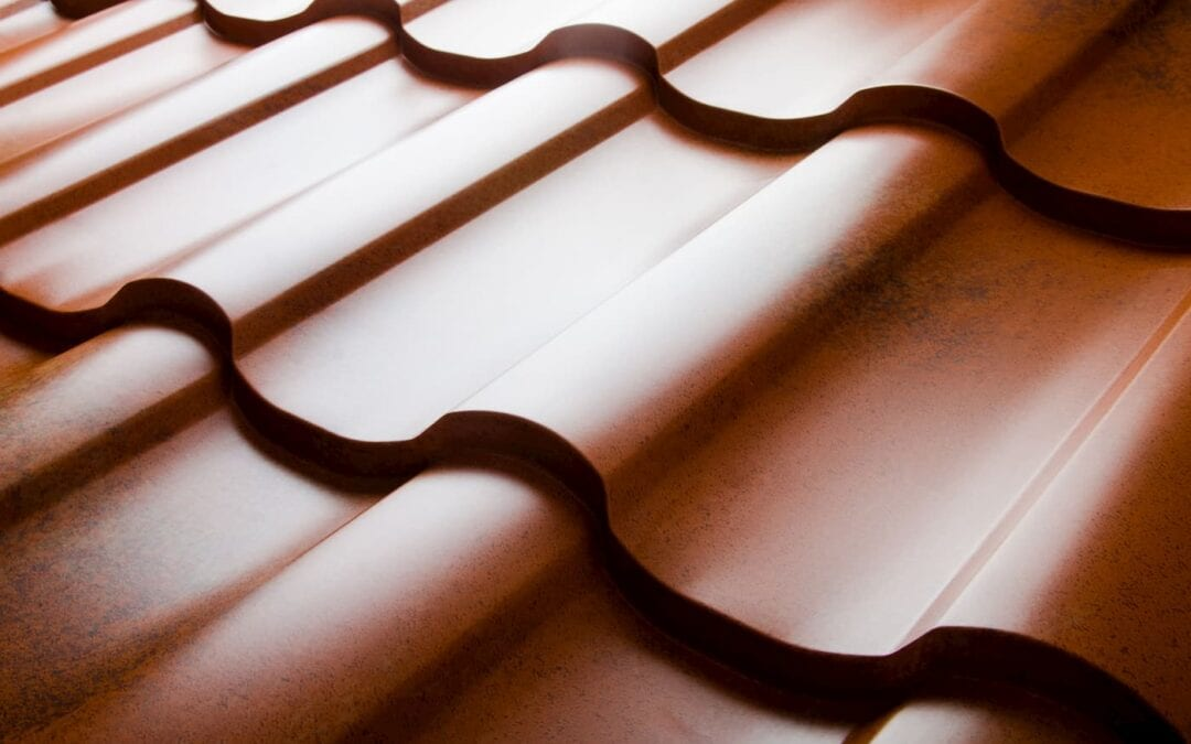 close up of tile roof